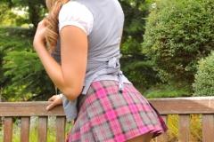 Leah Frances Big Tits in Tight Uniform 05