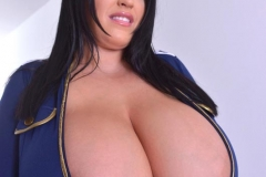 Leanne Crow Huge Boob Flight Attendant with Stockings 002
