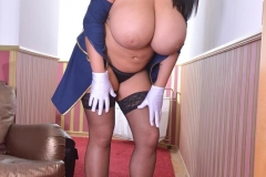 Leanne Crow Huge Boob Flight Attendant with Stockings 006