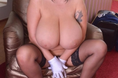 Leanne Crow Huge Boob Flight Attendant with Stockings 010