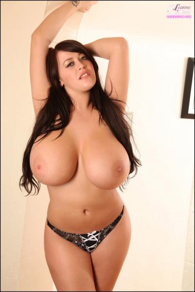 Leanne-Crow-Huge-Boobs-in-Formal-Black-Tie-bra-014