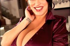 Leanne Crow Huge Cleavage Purple Top107