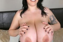 Leanne Crow Huge Tits in Black Nighty 011