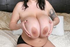 Leanne Crow Huge Tits in Black Nighty 017