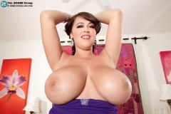 Leanne Crow Huge Tits Purple Dress 09