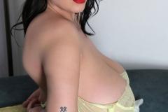 Leanne Crow Huge Tits Yellow Sheer Bra and Panties 019