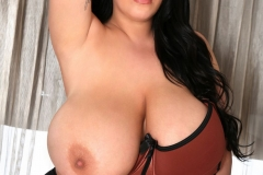 Leanne Crow Humungous Boobs in Caramel Bra 010