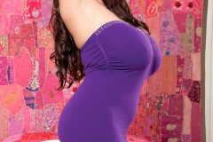 Leanne Crow Massive Tits Purple Dress 02