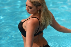 Lexi Lowe Big Boobs in Black Bikini at the Pool 004