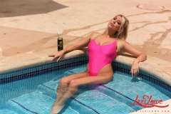 Lexi Lowe Big Tits Pink Swimsuit at the Pool 001