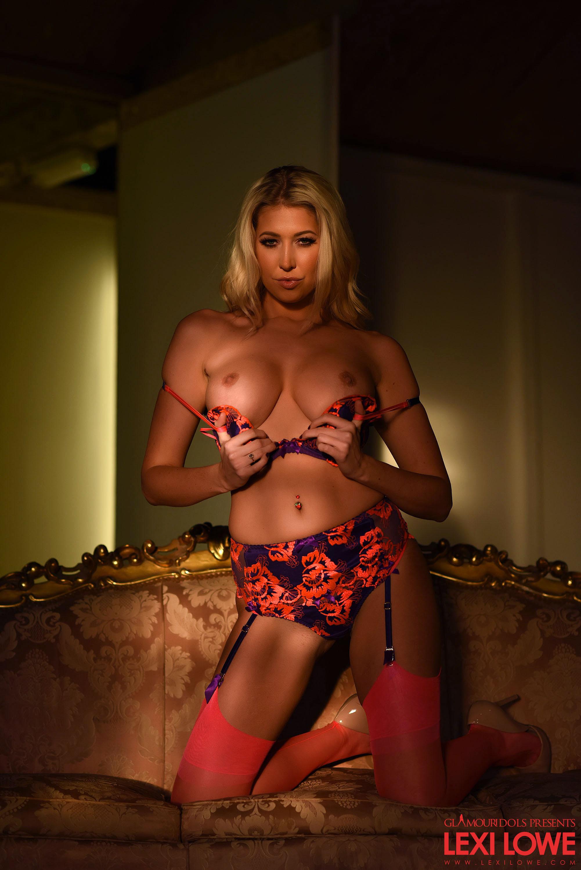 Lexi Lowe Blonde Big Boobs Sexy Stockings 05