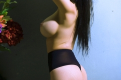 Lily Roma Big Boobs Black Stockings 04