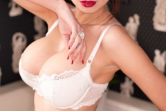 Lily Roma Big Boobs White Liingerie 02
