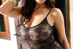 Lindsey Strutt Big Tits Black Lacy Body 10