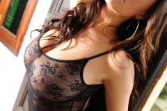 Lindsey Strutt Big Tits Black Lacy Body 11