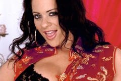 Linsey Dawn McKenzie Huge Boobs Black Lacy Bra 001