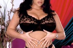Linsey Dawn McKenzie Huge Boobs Black Lacy Bra 005