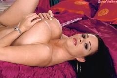 Linsey Dawn McKenzie Huge Boobs Black Lacy Bra 011