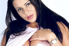 Linsey Dawn McKenzie Huge Boobs in Silky Pink Bra 001
