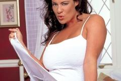 Linsey Dawn McKenzie Huge Boobs in Tight White Dress 003
