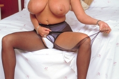 Linsey Dawn McKenzie Huge Boobs in Tight White Dress 008