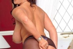 Linsey Dawn McKenzie Huge Boobs in Tight White Dress 010