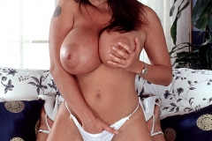 Linsey Dawn McKenzie Huge Boobs in White Minidress 013