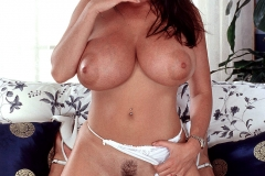 Linsey Dawn McKenzie Huge Boobs in White Minidress 014