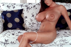 Linsey Dawn McKenzie Huge Boobs in White Minidress 015