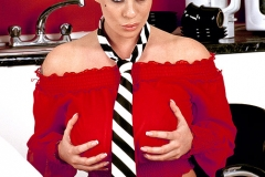 Linsey Dawn McKenzie Huge Boobs with a Tie Hanging Between them 002