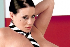 Linsey Dawn McKenzie Huge Boobs with a Tie Hanging Between them 014
