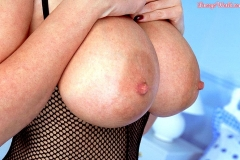 Linsey Dawn McKenzie Huge Breasts in Fishnet Bodystocking 09