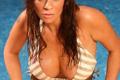 Linsey Dawn McKenzie Huge Tits Bikkin Pool Visit 004