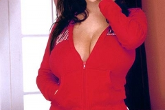 Linsey Dawn McKenzie Huge Tits Fall Out of Red tracksuit 01