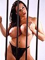 Linsey Dawn McKenzie Huge Tits in a Black Bra Behind Bars 019