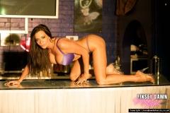 Linsey Dawn McKenzie Huge Tits In Silky Purple Bra and Panties 006