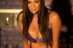 Linsey Dawn McKenzie Huge Tits In Silky Purple Bra and Panties 008