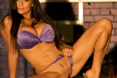 Linsey Dawn McKenzie Huge Tits In Silky Purple Bra and Panties 011