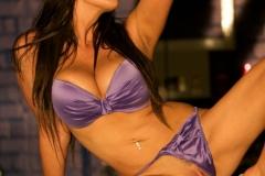 Linsey Dawn McKenzie Huge Tits In Silky Purple Bra and Panties 015