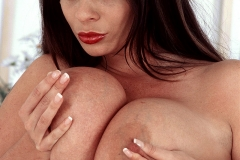 Linsey Dawn McKenzie Huge Tits in Tight Red Shirt 016