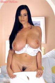 Linsey Dawn McKenzie Huge Tits in White Bra at bedtime 012