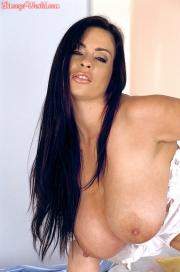 Linsey Dawn McKenzie Huge Tits in White Bra at bedtime 014