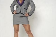 Lisa Ann Big Boobs Purple Shirt and Miniskirt 001