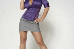 Lisa Ann Big Boobs Purple Shirt and Miniskirt 005