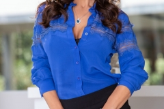 Lisa-Ann-Big-Tits-in-Sexy-Blue-Blouse-1003