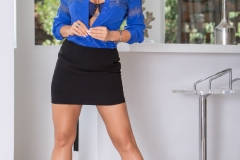 Lisa-Ann-Big-Tits-in-Sexy-Blue-Blouse-1004
