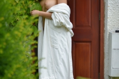 Lissy Cunningham Big Boobs Strips Out of White Robe 002
