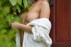 Lissy Cunningham Big Boobs Strips Out of White Robe 004
