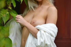 Lissy Cunningham Big Boobs Strips Out of White Robe 005