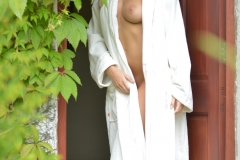 Lissy Cunningham Big Boobs Strips Out of White Robe 006